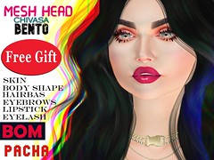 PACHA -Mesh Head- BOM- CHIVASA- GIFT_Belleza /Maitreya/ Slink
