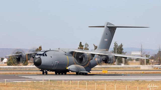 Belgian Air Force Airbus Military A400M Atlas CT-03 at Seville-San Pablo International Airport/LEZL