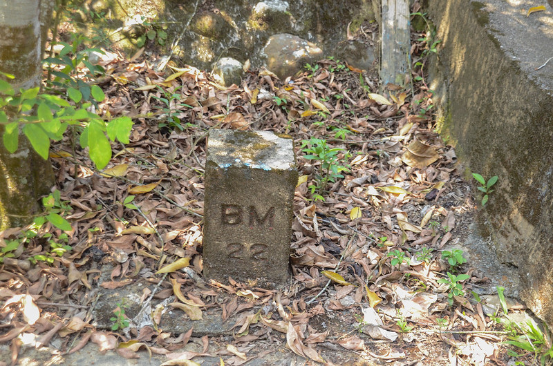 竹子門電廠(西)總督府土木局水準點(# BM22Elev. 80 m) (2)