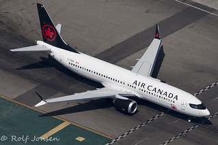 C-FSNU Boeing 737MAX8 Air Canada Los Angeles Airport KLAX