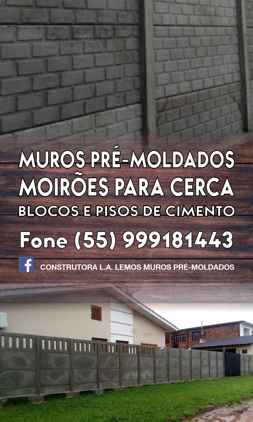 Construtora LA Lemos - Muros Pré-Moldados e Moirões para cercas