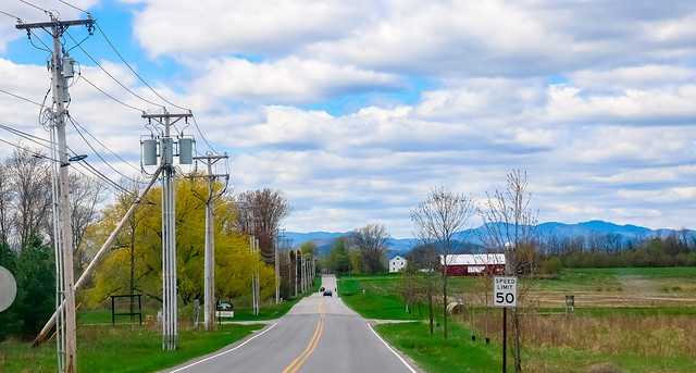on the road - charlotte - vermont
