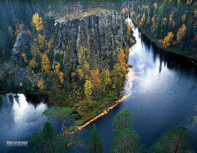 Ristikallio River Gorge in Oulanka National Park