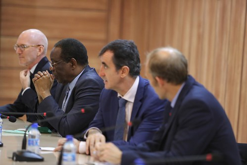 UN envoy attends the meeting with Somali Prime Minister, cabinet officials, key election donors and other partners - 14 October 2020 | by UNSomalia
