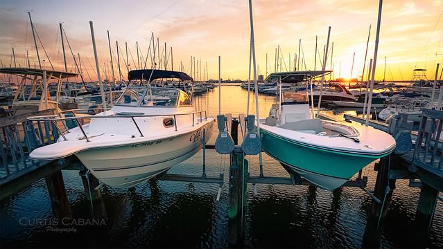 Charleston Marina Sunset