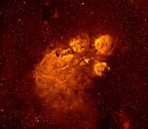 Fire in the Cat's Paw Nebula