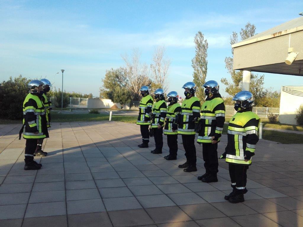 L'hommage des Pompiers13 au commandant Bruno Kohlhuber
