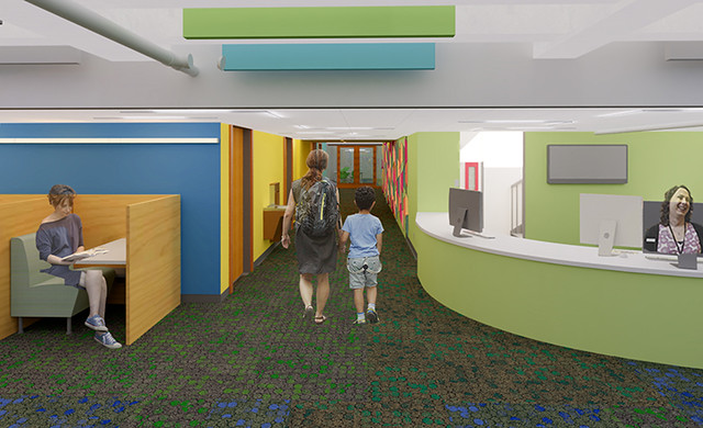 Youth Services Renovation - Renderings