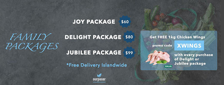 OurPasar Joy, Delight and Jubilee packages
