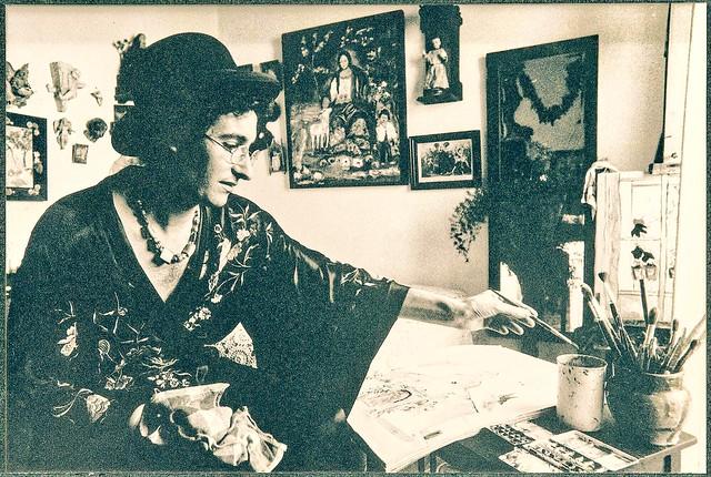 El pintor Ocaña en su estudio