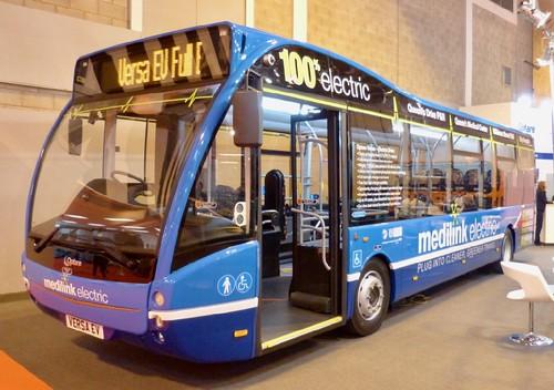'Optare'.  Optare Versa '100% 'electric on Dennis Basford's railsroadsrunways.blogspot.co.uk'