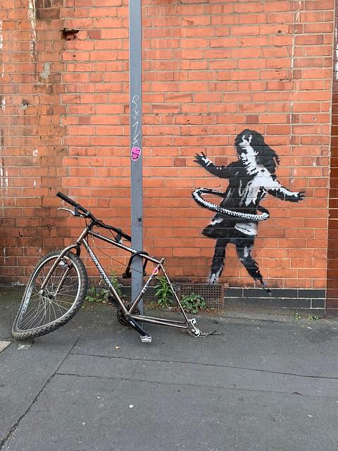 Banksy turns up in Nottingham.