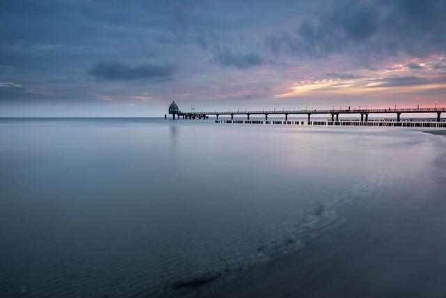 Pier at sunrise, West-Pomerania, Germany