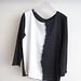La Boutique Extraordinaire - Majestic Filatures - T-shirt coton cachemire empiècement soie - 135 €