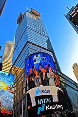 H&M Tower 4 Times Square Conde Nast Skyscraper & Bank of America 1 Bryant Park Midtown Manhattan New York City NY P00681 DSC_0957