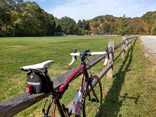 A rare outdoor ride: autumn at McCahill Park in Fox Chapel