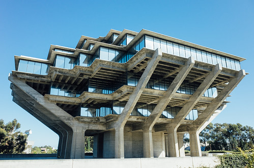 Corner perspective of the Geisel Library, San Diego