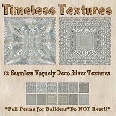 TT 12 Seamless Vaguely Deco Silver Timeless Textures