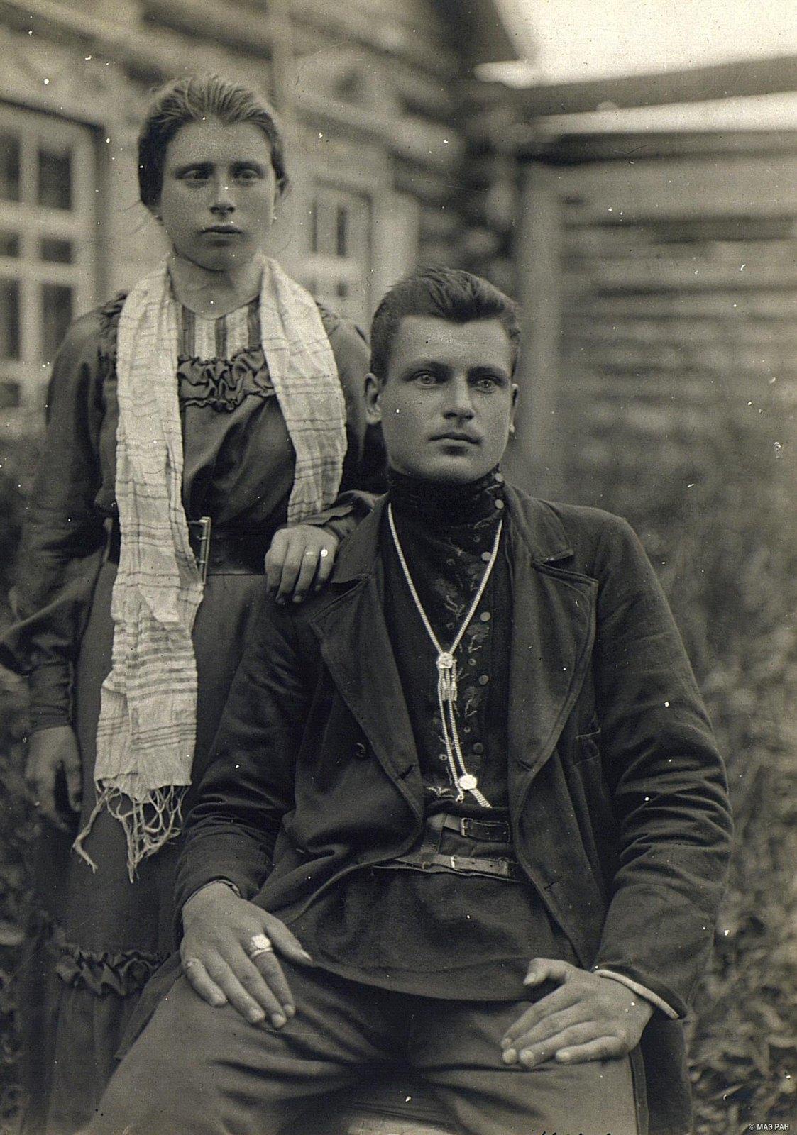 Купец Михаил Калуцкий с женой