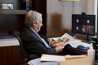 Advocate for Inclusive Finance for Development Presents Report to Secretary-General | by United Nations Photo