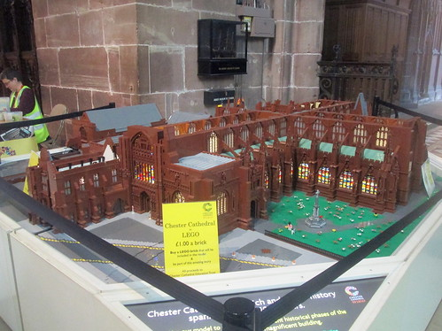 Model of Chester Cathedral in Lego