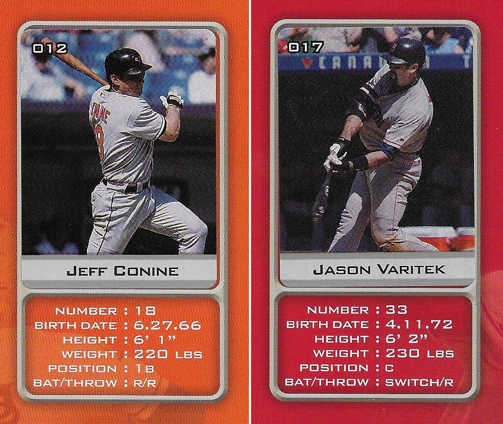 2003 Sports Vault MLB Stickers (Jeff Conine-Jason Varitek)