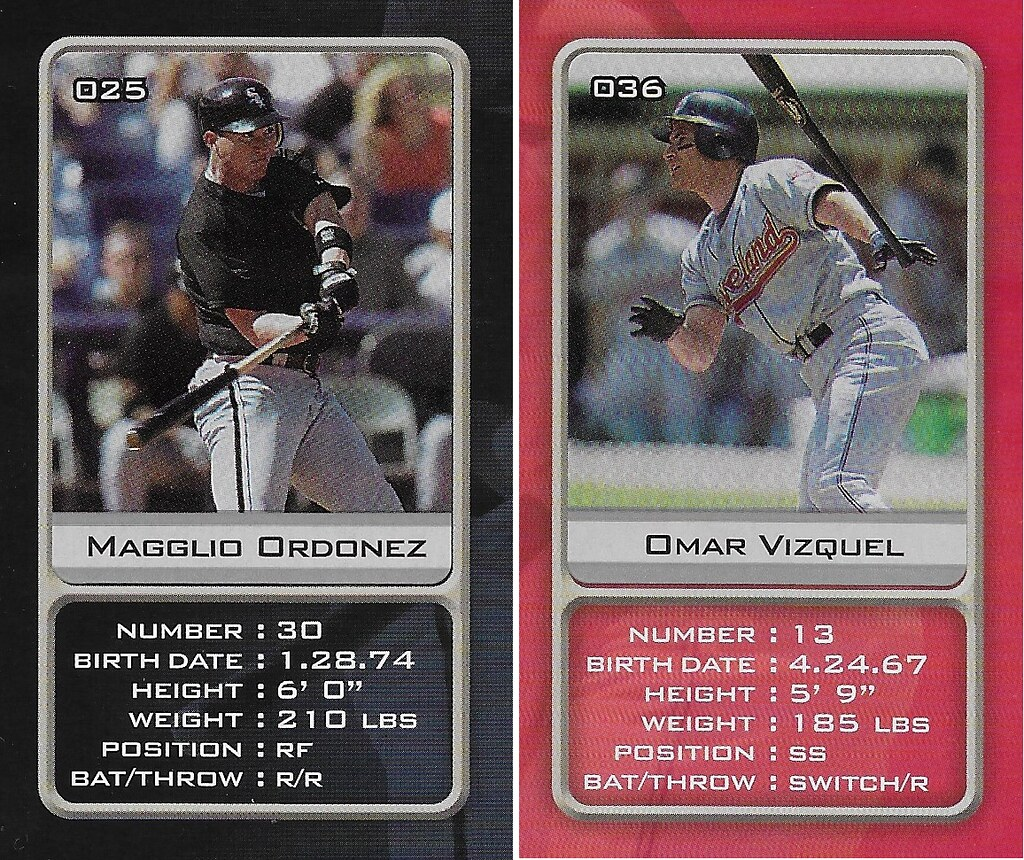 2003 Sports Vault MLB Stickers (Magglio Ordonez-Omar Vizquel)