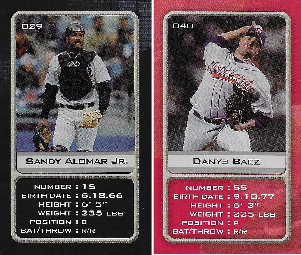 2003 Sports Vault MLB Stickers (Sandy Alomar Jr-Danys Baez)