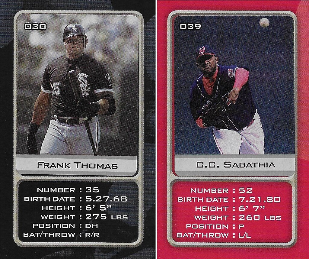 2003 Sports Vault MLB Stickers (Frank Thomas-C.C. Sabathia)