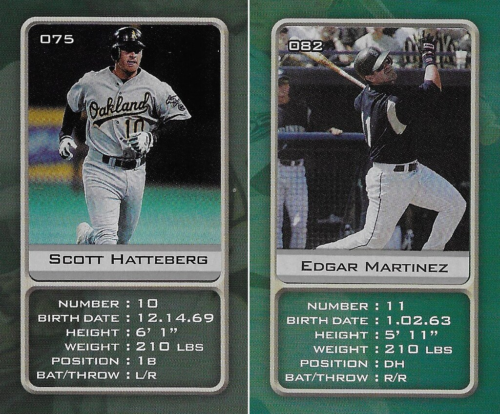 2003 Sports Vault MLB Stickers (Scott Hatteberg-Edgar Martinez)