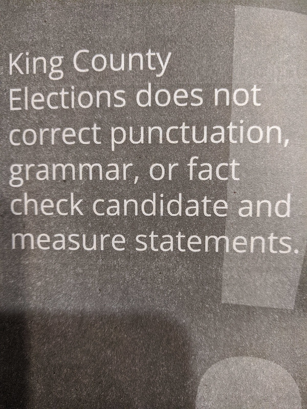 2020 Voting - King County Doesn't Grammar