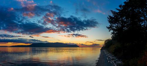 Sunset Over Orcas Island