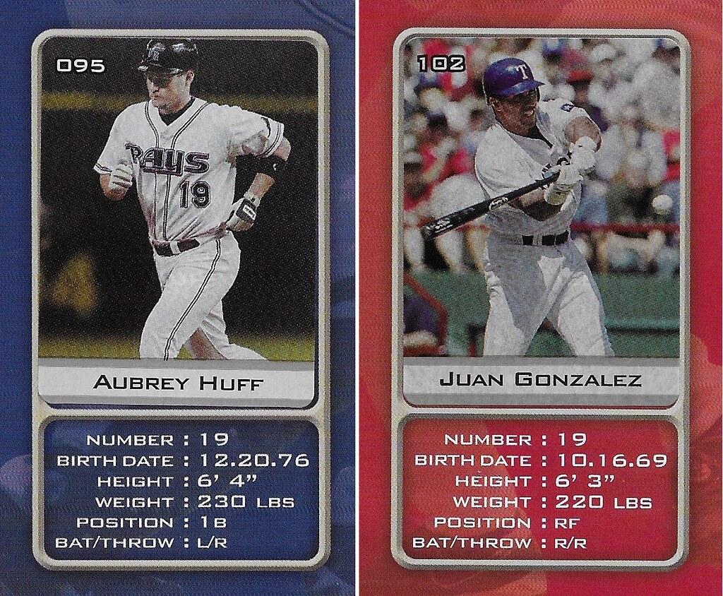 2003 Sports Vault MLB Stickers (Aubrey Huff-Juan Gonzalez)