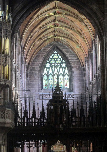 Rood Screen & Stained Glass Windows, Chester Cathedral