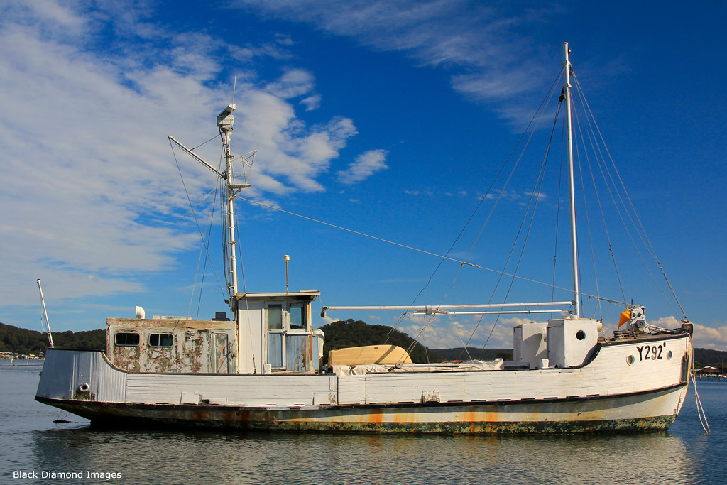Y292 - HMAS TORTOISE (Built 1945), Seen Here Moored in Riley's Bay, Ettalong, NSW, 20.5.2015