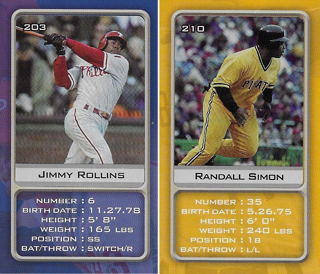 2003 Sports Vault MLB Stickers (Jimmy Rollins-Randall Simon)