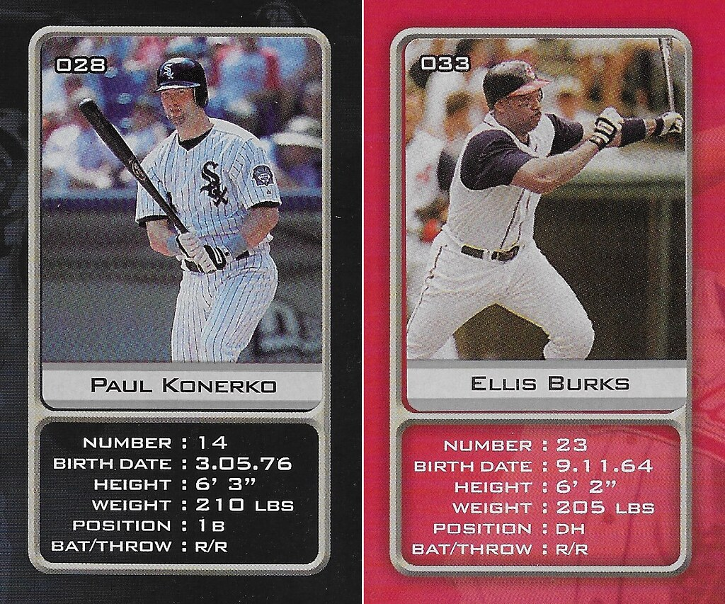 2003 Sports Vault MLB Stickers (Paul Konerko-Ellis Burks)