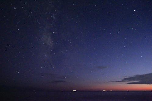 sunset galaxy milky way sttary sky nature landscape night twilight