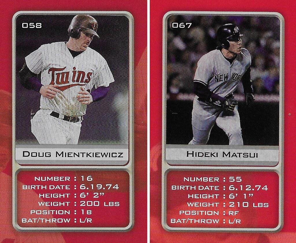 2003 Sports Vault MLB Stickers (Doug Mientkiewicz-Hideki Matsui)