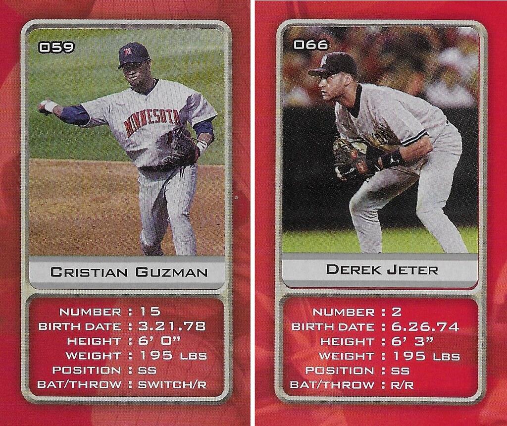 2003 Sports Vault MLB Stickers (Cristian Guzman-Derek Jeter)