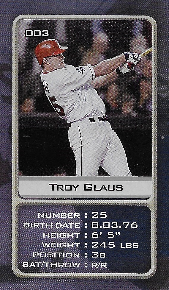 2003 Sports Vault MLB Stickers (Troy Glaus)