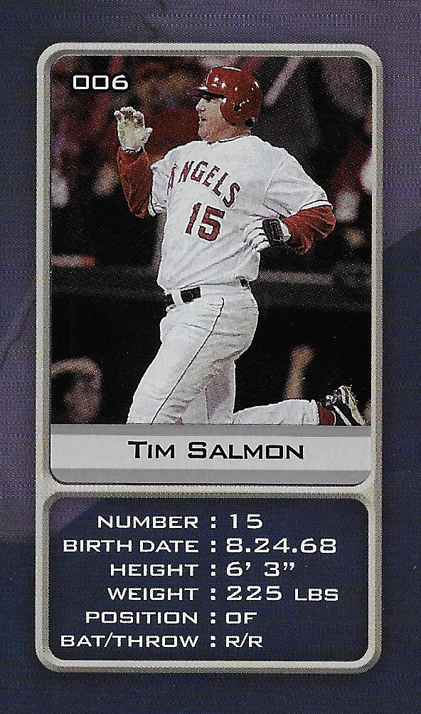 2003 Sports Vault MLB Stickers (Tim Salmon)