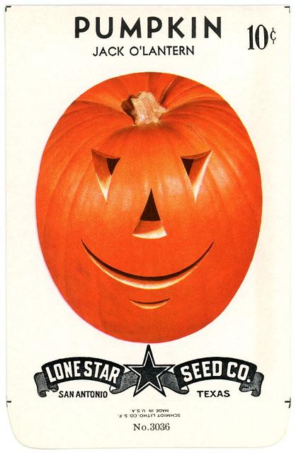Pumpkin Jack-o'-Lantern Seed Packet