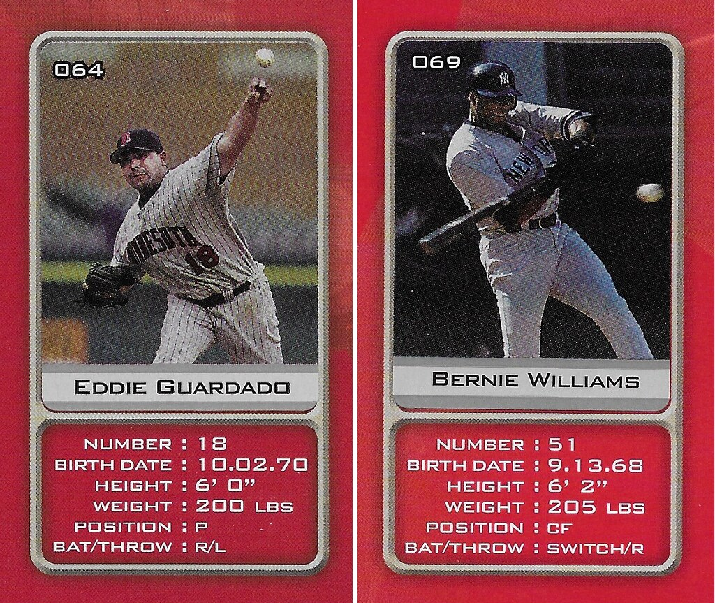 2003 Sports Vault MLB Stickers (Eddie Guardado-Bernie Williams)