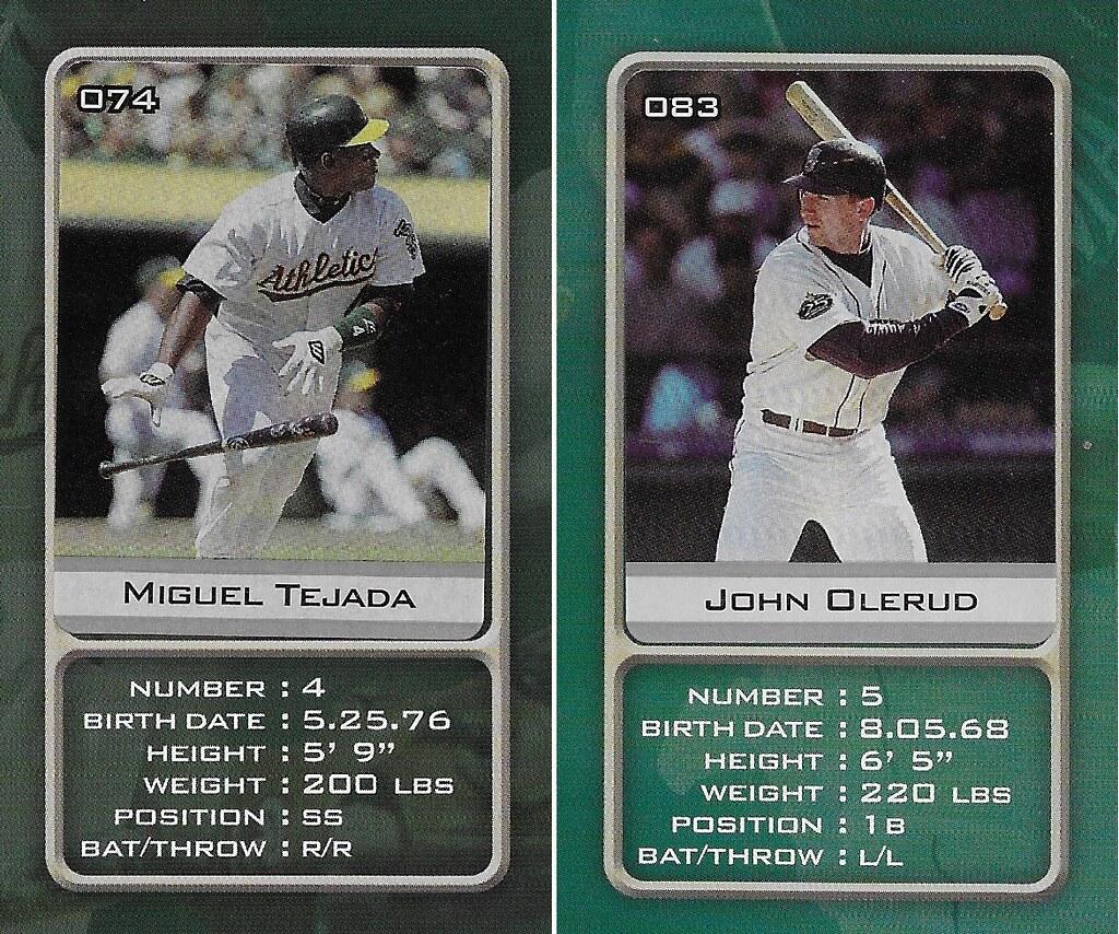 2003 Sports Vault MLB Stickers (Miguel Tejada-John Olerud)