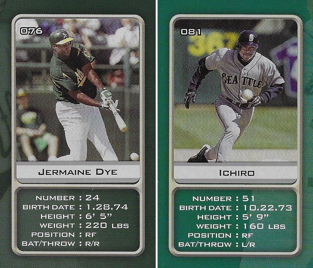 2003 Sports Vault MLB Stickers (Jermaine Dye-Ichiro)
