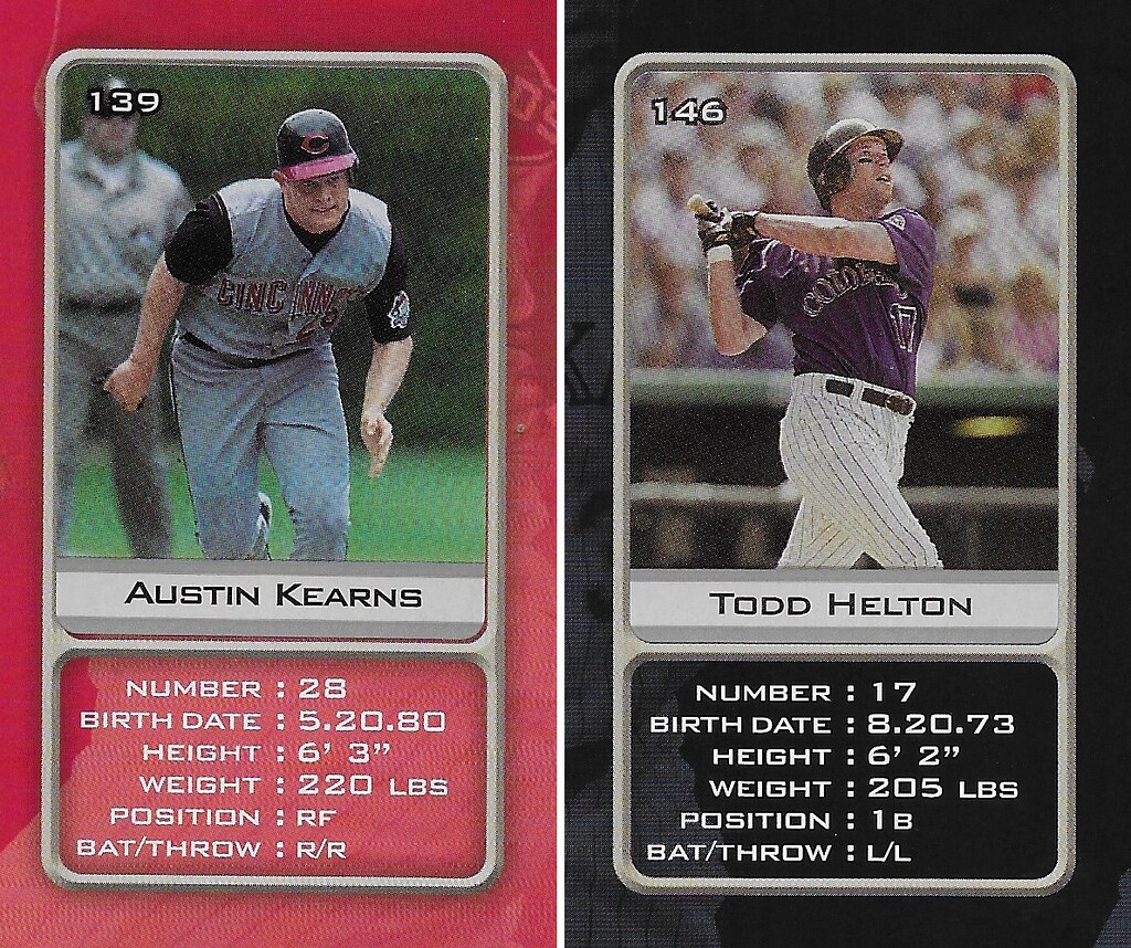 2003 Sports Vault MLB Stickers (Austin Kearns-Todd Helton)