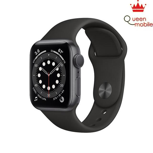 Đồng hồ thông minh Series 6 (2020) LTE 40mm Viền nhôm Đen - Dây Cao su Đen