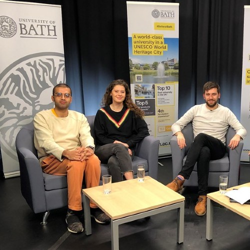 Image of student panel ahead of virtual open day