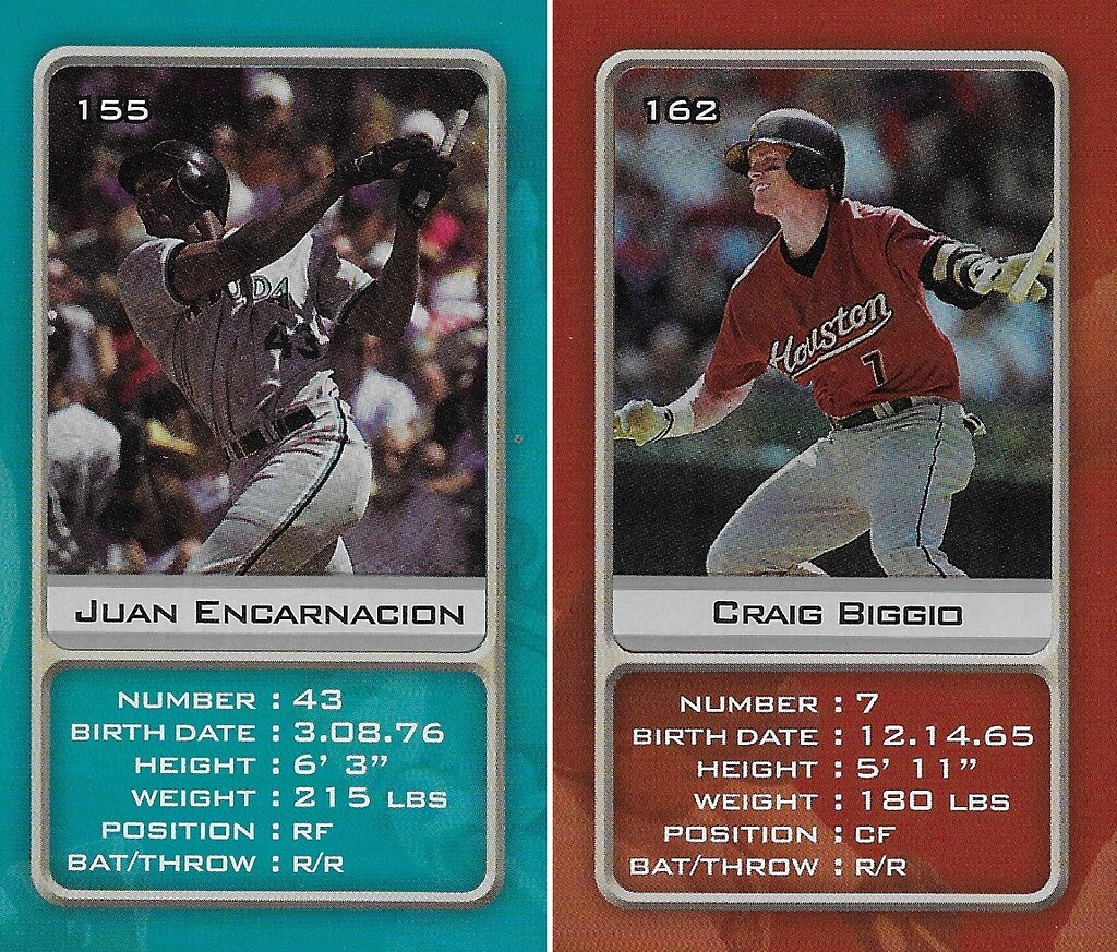 2003 Sports Vault MLB Stickers (Juan Encarnacion-Craig Biggio)